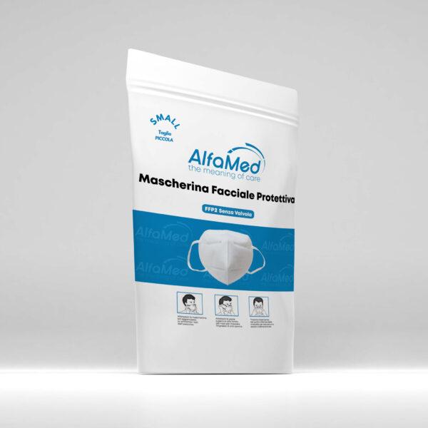 confezione-mascherina-FFP2-bambino-bianca-alfamed-srl